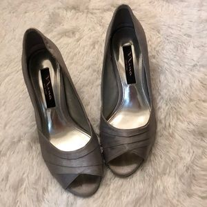Nina peep toe heels
